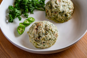 Fish Fixe Jalapeno Hatch Crab Cakes // 5.5 oz. portions // 2 portions per pack