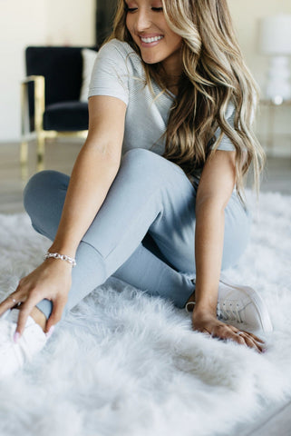 Ash Blue Perfect Joggers - Sweet Onnie's Boutique
