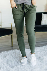Olive Perfect Joggers - Sweet Onnie's Boutique