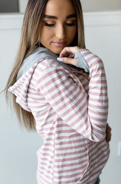 Half Zip-Candy Striper - Sweet Onnie's Boutique