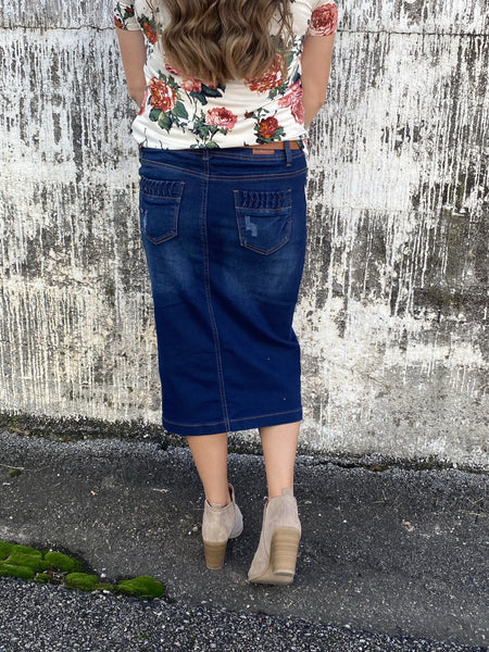 Dark Wash Missy Denim Skirt