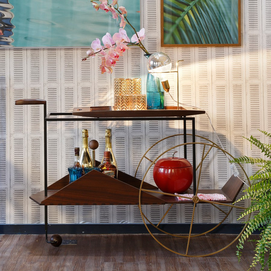 JZ Tea Trolley Storage Jorge Zalszupin Designer Furniture Sku: 003-220-10064