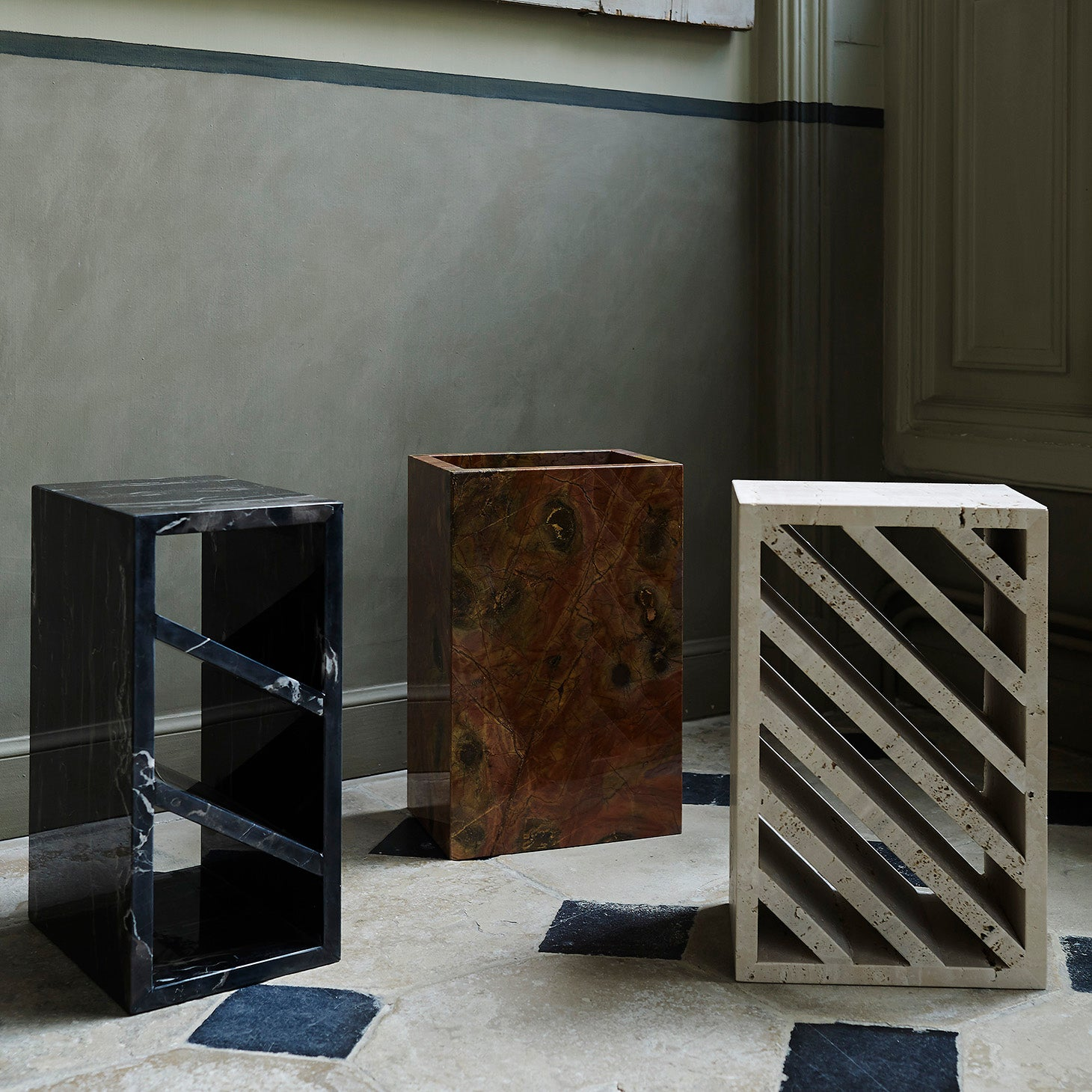 BRICK Tables Gregoire de Lafforest Designer Furniture Sku: 765-230-10006