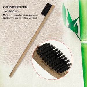 Eco-Friendly Wooden Handle Bamboo Fibre Toothbrush
