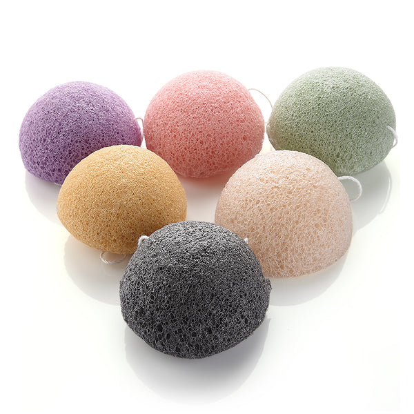 Bamboo Charcoal Body Cleansing Konjak Sponge