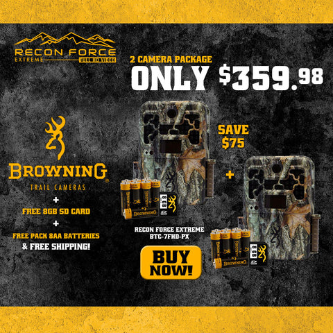 2x Recon Force Extreme includes (2) FREE 8GB SD Cards + Browning Trail Cameras |