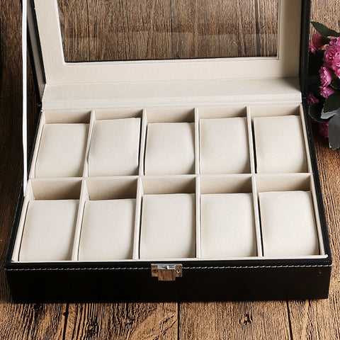 Elegant Classical Organised Watch Holder Leather Box