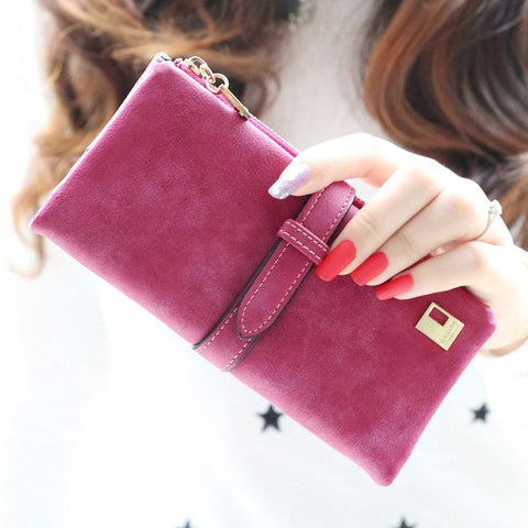 Hot Fashion Women Soft Zipper Wallet