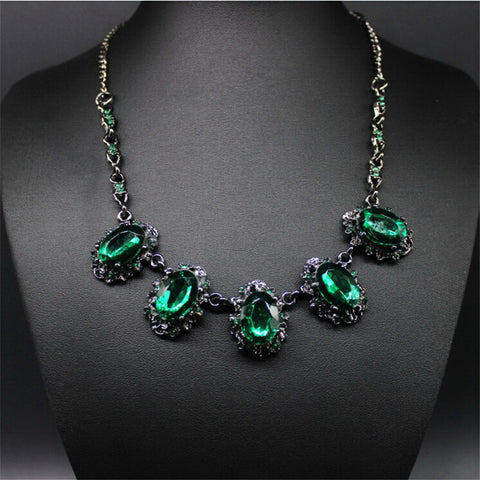 Match-Right Vintage Crystal Statement Necklace