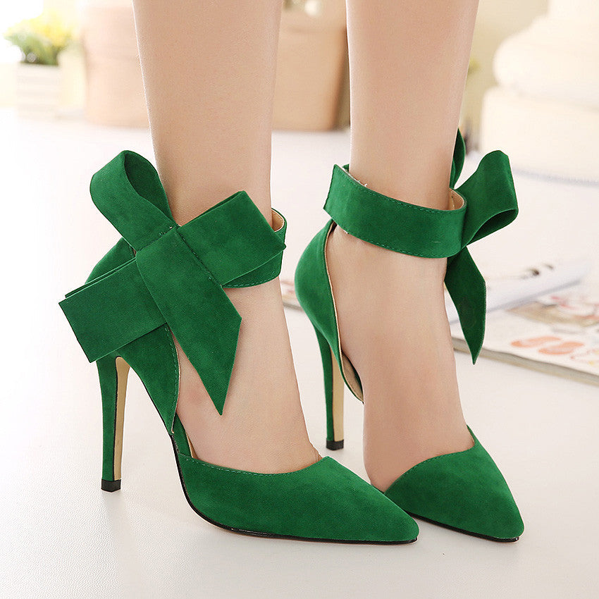 Bow-Tie Style Fashion Pointed Toe High Heels Shoes