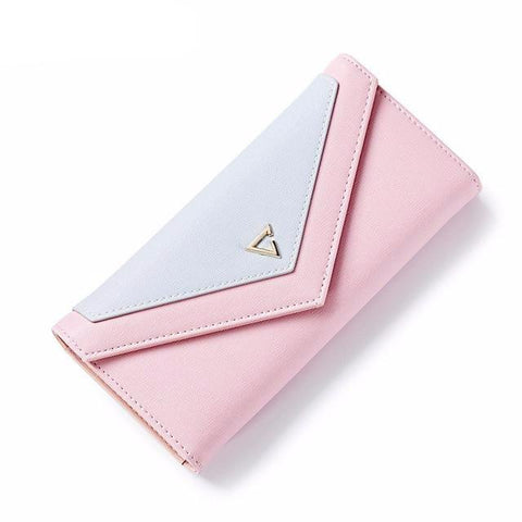 Geometric Envelope Clutch Hasp Women Wallet