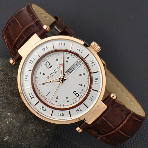 Retro Look Business Leather Men Watch