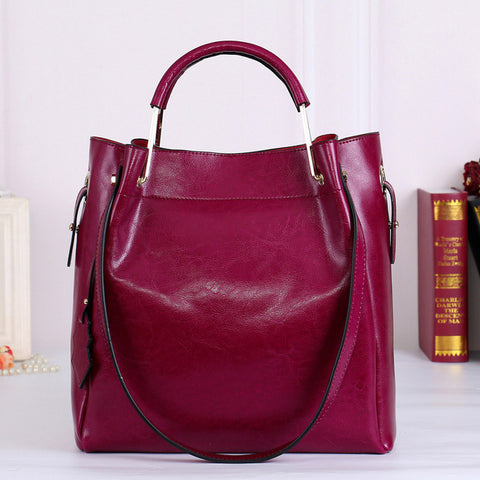 Fashion Vintage Split Leather Casual Ladies Handbag
