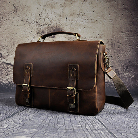 Retro Designer Business Briefcase Document Laptop Bag