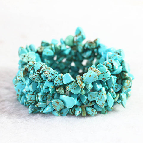 Fashion Turquoise Unique Gravel Beads Bracelet