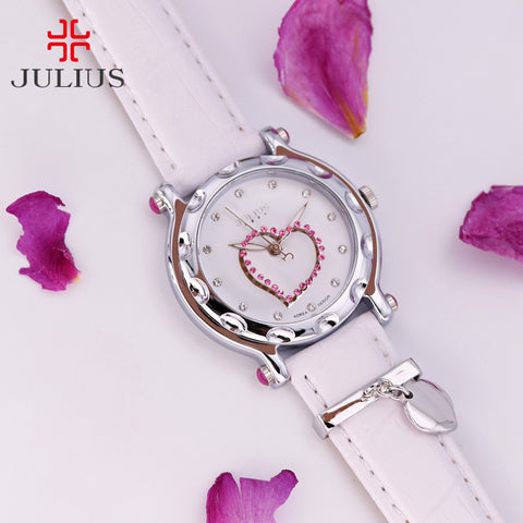 Elegant Rhinestone Heart Shape Bracelet Ladies Watch