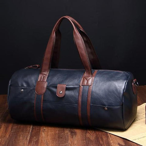 Brand Classy Leather Travel Men's Vintage Duffel Bag