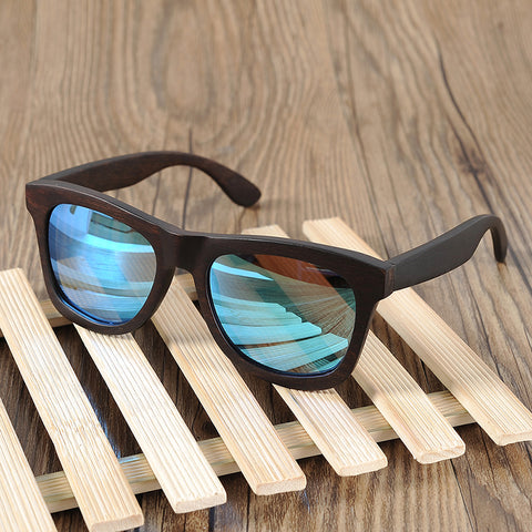 Luxury Men's Wood Casual Polarized Lens Sunglasses