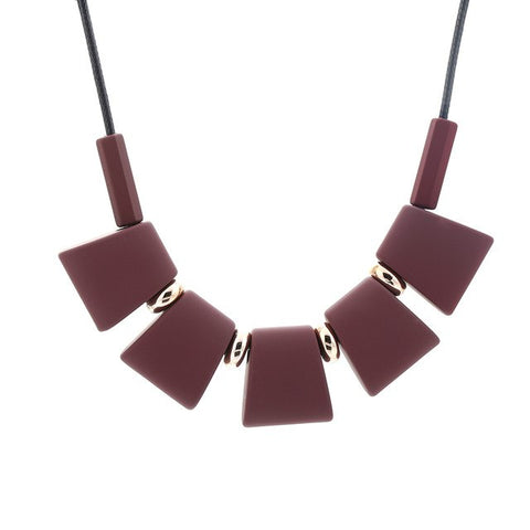 Beautiful Elegant Wood Beads Necklace