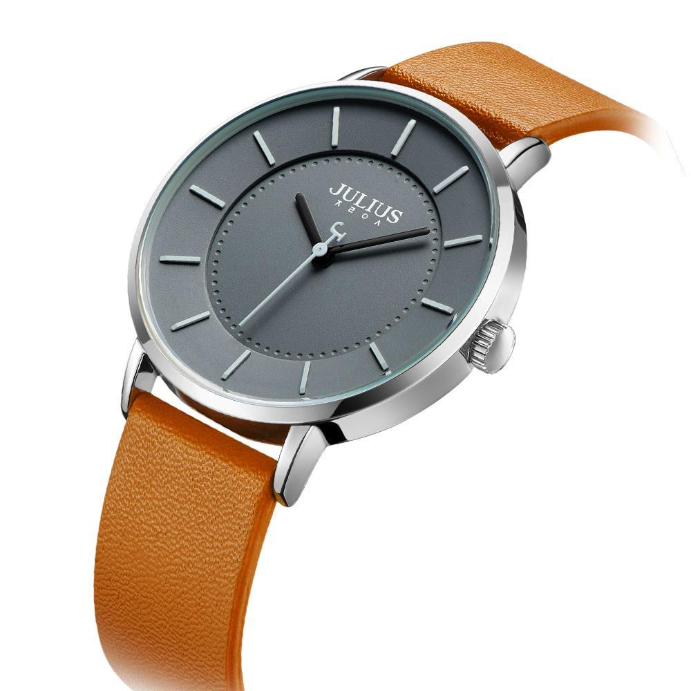 Cool Guy Quartz Hours Fashion Clock Leather Watch