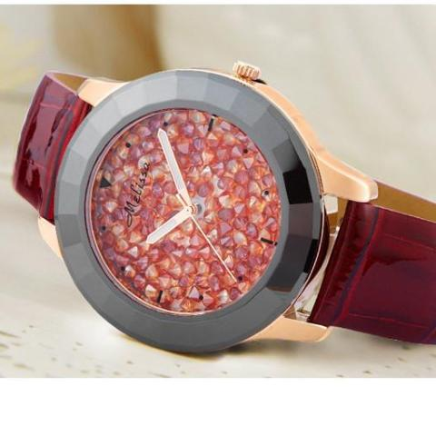 Ceramic Full Rhinestone Crystal Fashion Hour Dress Bracelet Watch