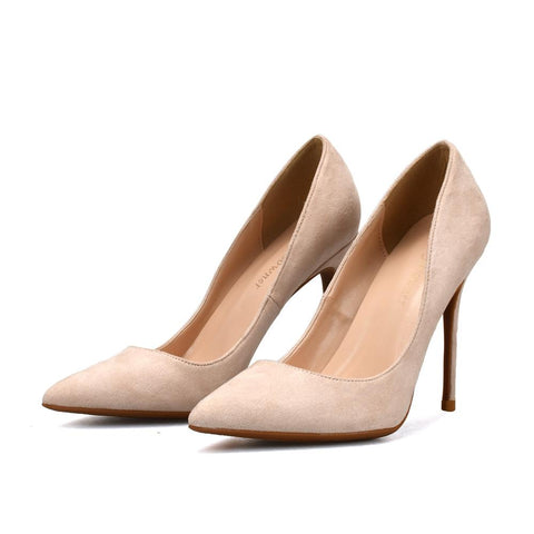Elegant Ladies Pointed Toe Mature High Heels Shoes