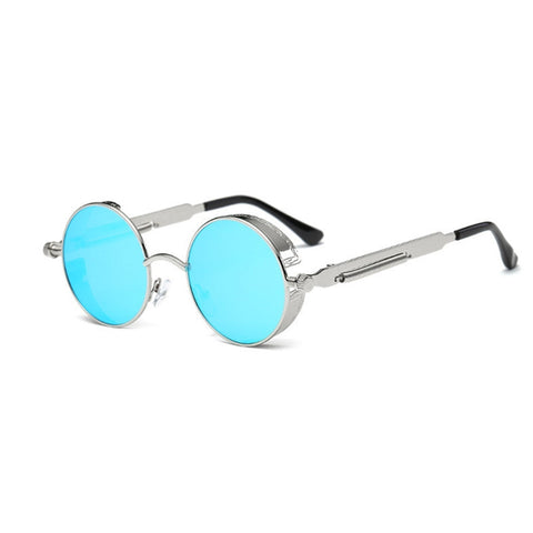 Round Flat Mirror Fashion Vintage Sunglasses