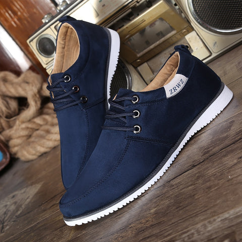 Casual Leisure Men Suede Leather Flat Shoes