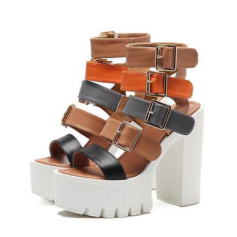 Gladiator Summer Fashion Buckle Women Platform Shoes