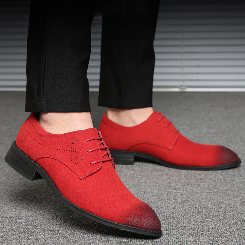 Brand Suede Leather Classic Retro Brogue Oxfords Shoes