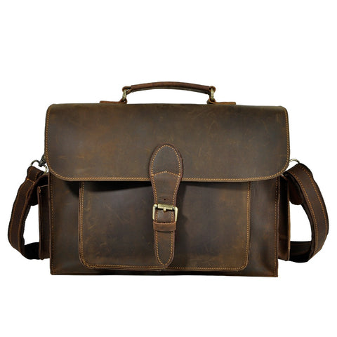Real Leather Fashion Designer Business Briefcase Bag
