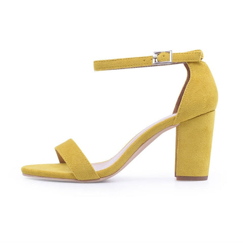 Ankle Strap Toe Chunky Heels Women Summer Shoes