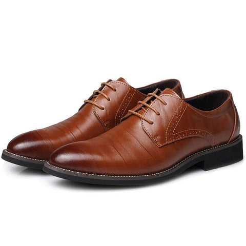 Formal Flat Classic Leather Lace Up Shoes
