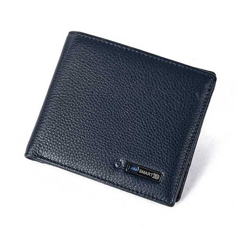 Smart Anti Lost Genuine Leather Men Wallet