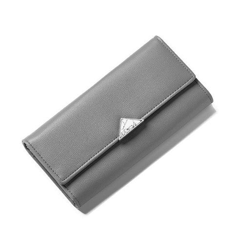 Nature Stone Clutch Synthetic Leather Women Wallet