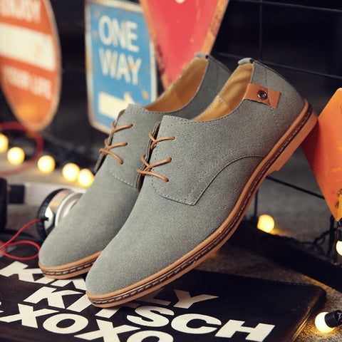Brand Trendy Flat Lace Up Casual Men Shoes