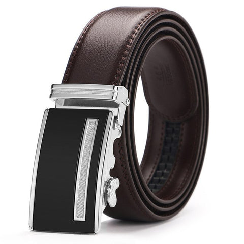 Formal Business Automatic Buckle Men Leather Belt