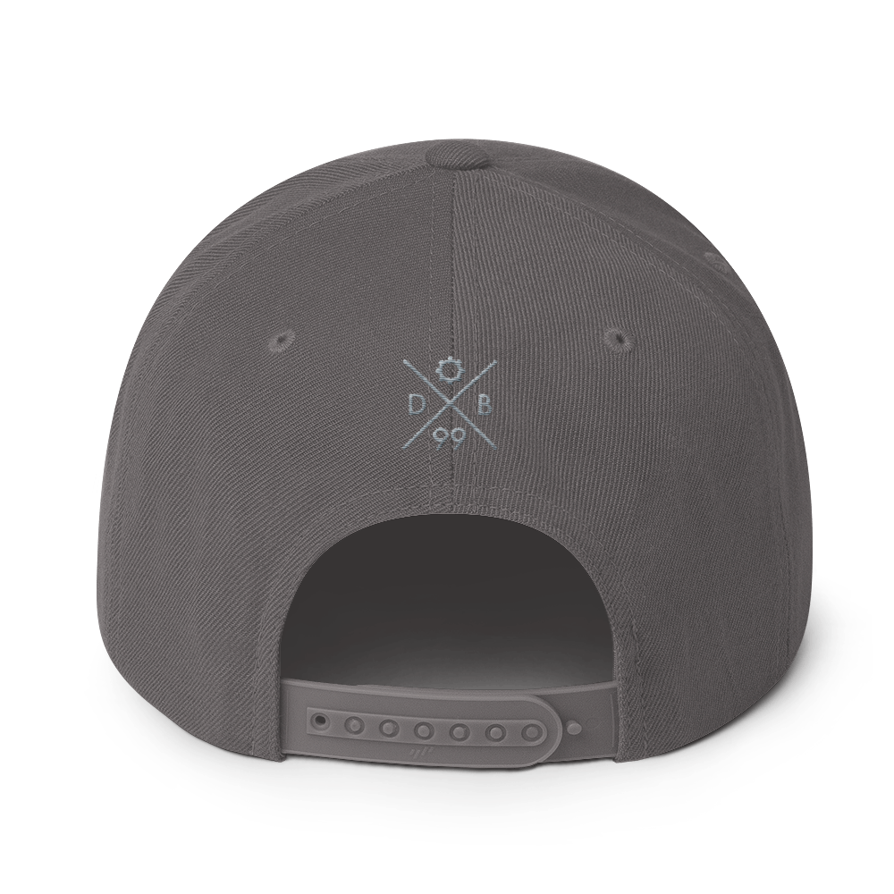Logo Snapback - Grey Thread