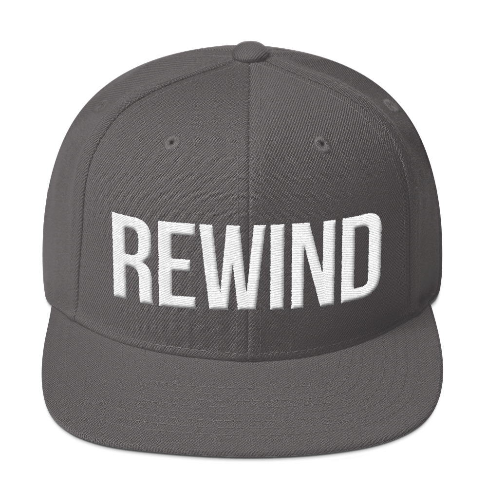 Rewind Snapback - White Thread