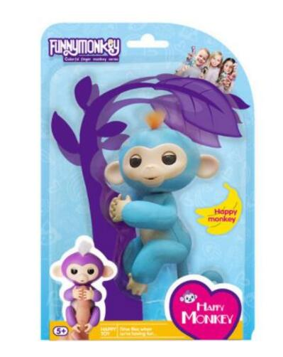 Blue Fingerlings Baby Monkey With Box