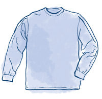 Topside Cotton Longsleeve T-Shirt Sizing