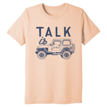 Talk Is Jeep Triblend Tee