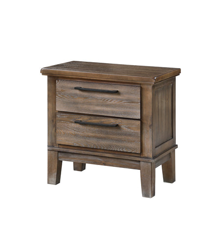 Cagney Vintage Grey Nightstand