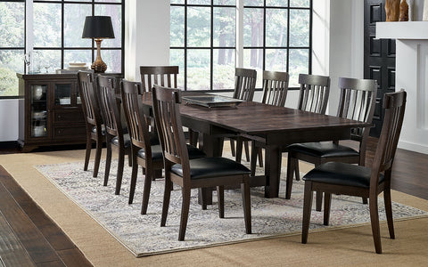Mariposa Warm Gray Extendable Trestle Dining Table Only