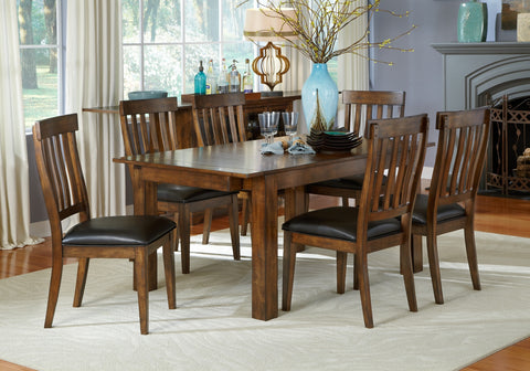 Mariposa Rustic Whiskey Extendable Dining Table Only