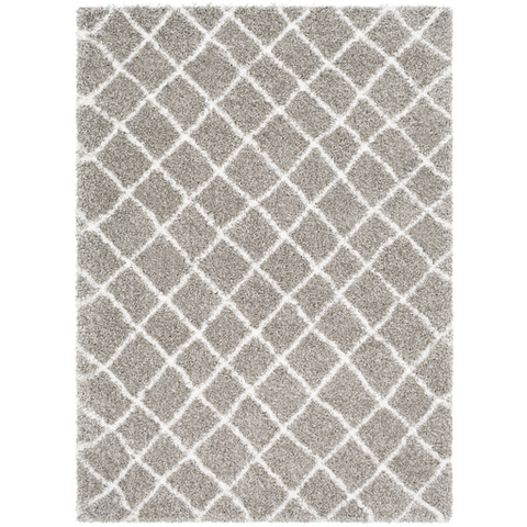 Kodiak Taupe + Light Gray Shag Rug