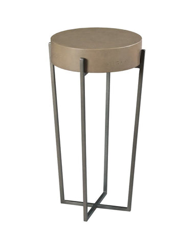 Hidden Treasures Round Concrete End Table