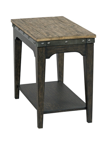 Artisans Chairside End Table - Charcoal / Natural