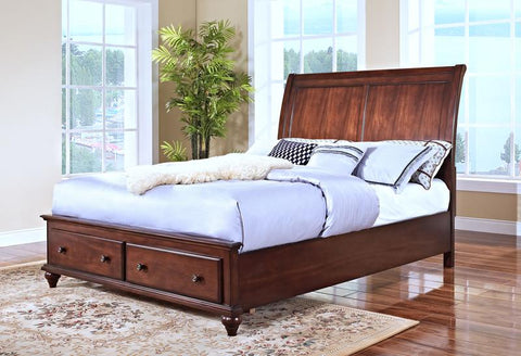 Spring Creek Tobacco Queen Storage Bed