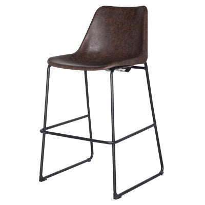 Delta Vintage Coffee Brown ABS Bar Stool